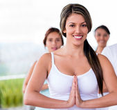Female yoga instuctor Royalty Free Stock Photos