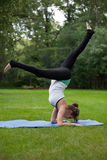 Female Yoga Practice  at Outdoor Park Royalty Free Stock Photo