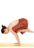 Female yogi practising yoga exercises Stock Photos