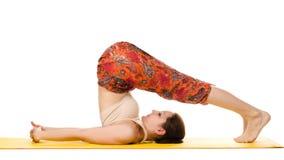 Female yogi practising yoga exercises Royalty Free Stock Photo