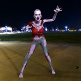 Female zombie. 3D CG rendering of female zombie Royalty Free Stock Photo