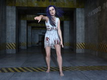 Female zombie Royalty Free Stock Photography