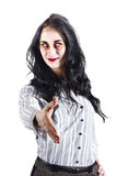 Zombie offers her handshake Stock Images