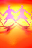Females only. Females joined together in unity royalty free stock image