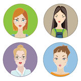 Females avatars Stock Image