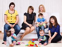 Females  with  babies Stock Photo