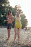 Females At The Beach Stock Image