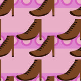 Females boots seamless background design Stock Photo