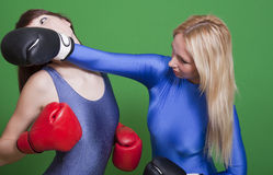 Females boxing Royalty Free Stock Image