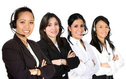 Females only customer service team Royalty Free Stock Photos