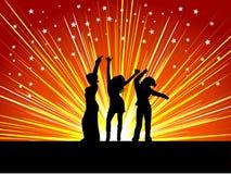 Females dancing Royalty Free Stock Image