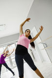 Females In Gym Stretching Royalty Free Stock Photography
