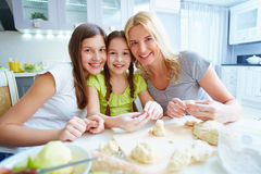 Females at the kitchen Royalty Free Stock Photography