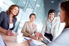 Females at meeting Royalty Free Stock Image