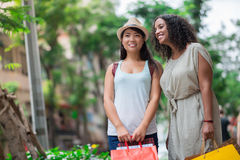 Females outdoors Royalty Free Stock Image