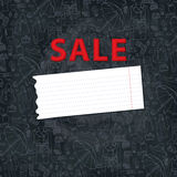 Females outerwear,accessories sale background. Royalty Free Stock Photos
