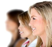 Females in a row Stock Photography