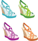 Females sandals Stock Images