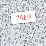 Females shoes,boots sale background.Sketchy Royalty Free Stock Image