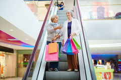 Females after shopping Royalty Free Stock Image