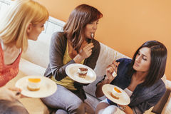Females Socializing At Home Stock Image