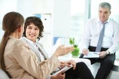 Females talking Stock Photos