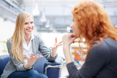 Females talking Stock Photo