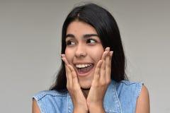 Femelle adolescente étonnée Image libre de droits