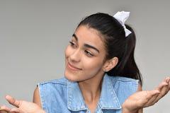 Femelle adolescente jeune et confusion photographie stock libre de droits