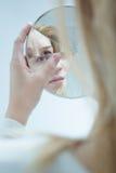 Femelle avec le dosorder bipolaire image libre de droits