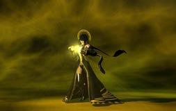 Femelle d'être humain de magicien Images libres de droits