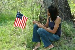 Femelle d'Afro-américain Photo libre de droits