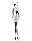 Femelle d'isolement de croquis de silhouette d'illustration Image stock