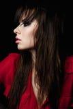 Femelle de beauté de mode avec les yeux fumeux Photo stock