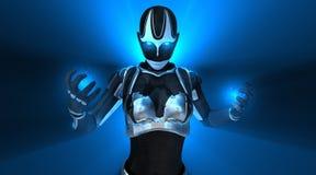 Femelle de cyborg Images stock