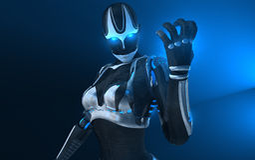 Femelle de cyborg Photos libres de droits