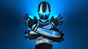 Femelle de cyborg Images libres de droits