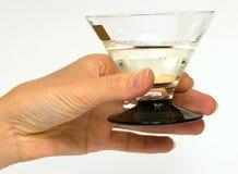 Femelle de main avec une glace photos libres de droits