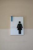 Femelle de signe de toilette photographie stock libre de droits
