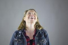 Femelle de sourire dans la veste 4 Image libre de droits
