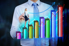 Femelle financière de croissance Photos libres de droits