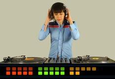 Femelle géniale DJ Image libre de droits