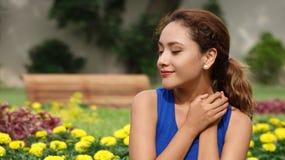 Femelle hispanique dans l'amour Photos libres de droits