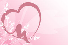 Femelle au coeur Image stock