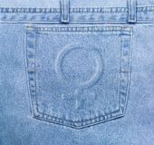 Femenine jeans pocket royalty free stock photos