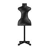 Femenine manequin isolated icon Royalty Free Stock Images