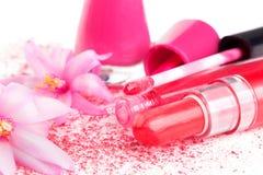 Femenino rosado compone. Fotografía de archivo