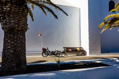 Afternoon nap after heavy cycling in Lanzarote stock photos