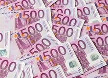 Femhundra euroanmärkningar Arkivfoton