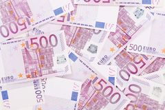 Femhundra euroanmärkningar. Royaltyfria Bilder